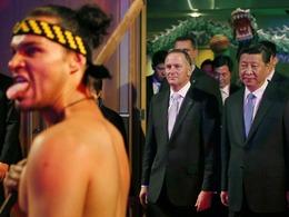 毛利人袒胸露腚表演 习近平面无表情