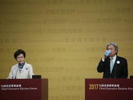 选举在即 港特首候选人最后一次辩论[图集]