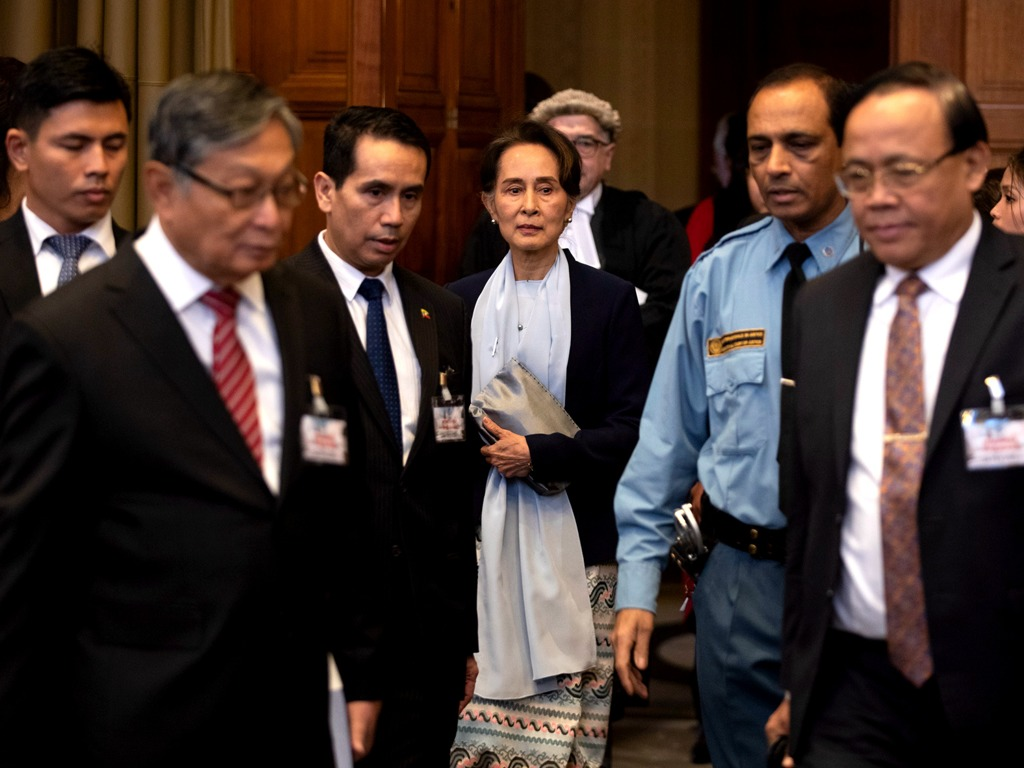 昂山素季亲赴海牙为缅甸辩护 否认种族灭绝意图[图集]
